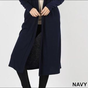 Zenana Outfitters Sweaters - 30% OFF 2/MORE REG & PLUS Duster Cardigan Navy